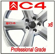 CITROEN C4 CAR WHEEL DECALS